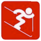 pictogramme ski rouge